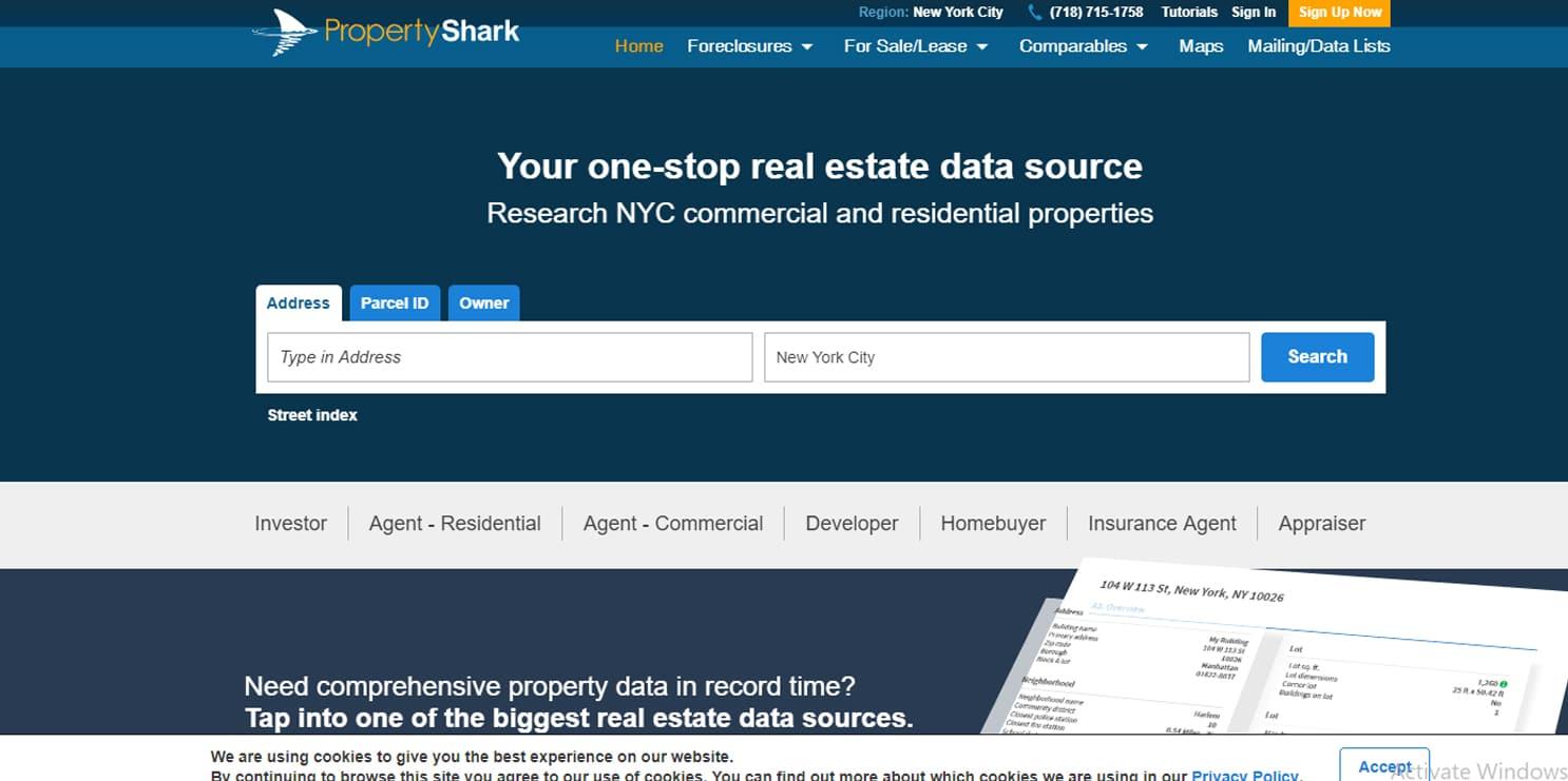 propertyshark - אתרים שימושיים