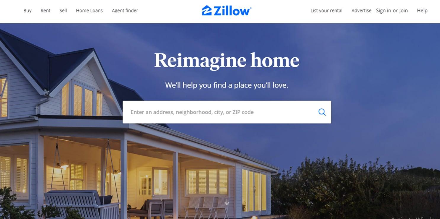 zillow - אתרים שימושיים